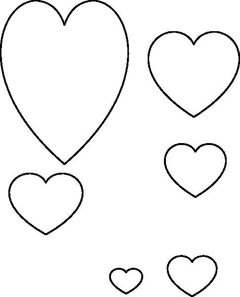 Large Heart Stencil Printable Best Of Heart Stencil Clip Art at Clker Vector Clip Art