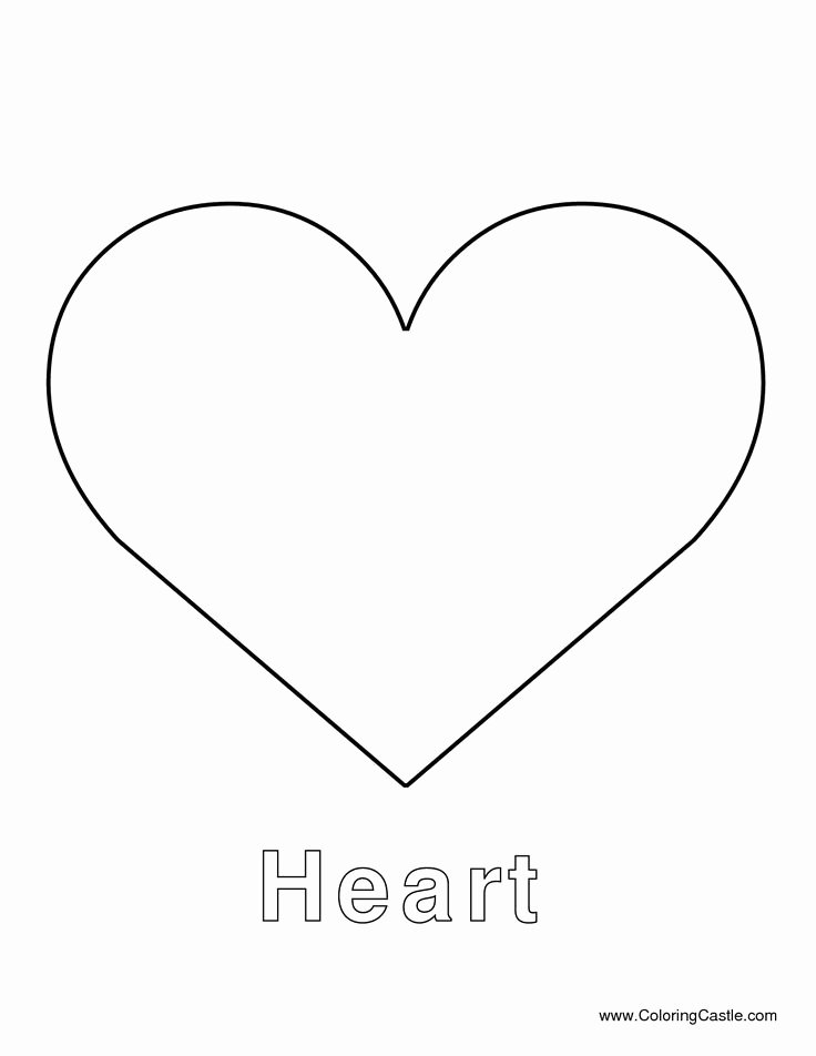 Large Heart Stencil Printable Elegant Heart Template Heart Template