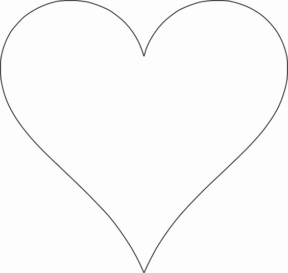 Large Heart Stencil Printable Fresh 5 Free Heart Shaped Printable Templates for Your Craft
