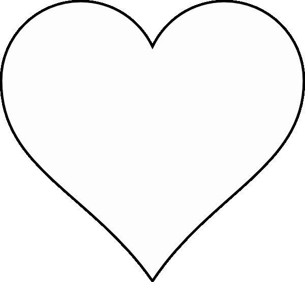 Large Heart Stencil Printable Fresh Heart Stencil Clipart Best