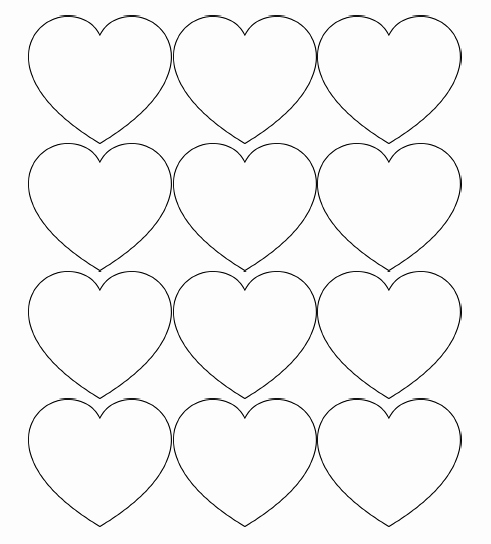 Large Heart Stencil Printable Inspirational Free Printable Heart Templates – Medium & Small