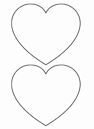 Large Heart Stencil Printable Lovely 25 Best Ideas About Heart Template On Pinterest