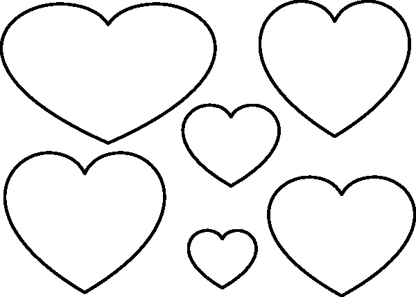 Large Heart Stencil Printable New Heart Stencil Clip Art at Clker Vector Clip Art