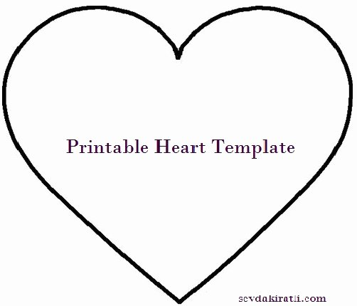 Large Heart Stencil Printable Unique Heart Template Printable