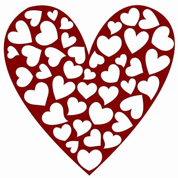 Large Heart Stencil Printable Unique Valentines Day Valentine S Day Stencil Stensil