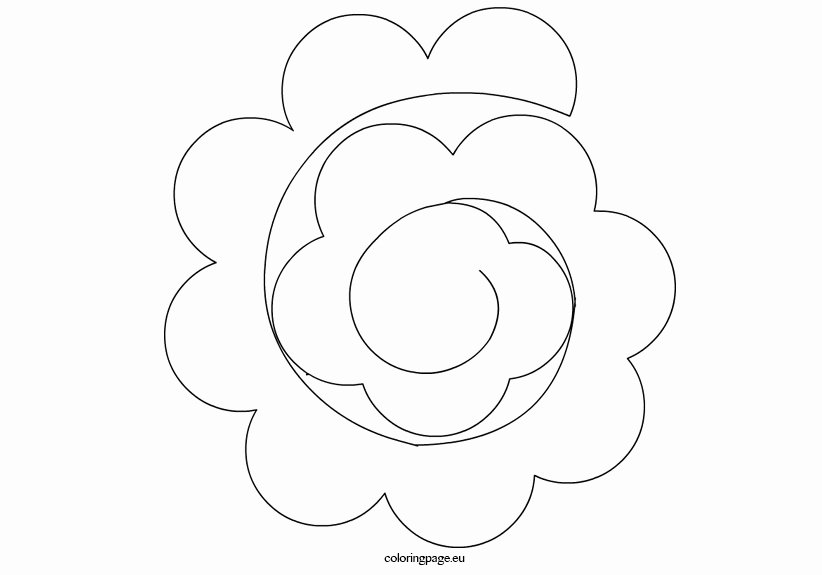 Large Rose Paper Flower Template Awesome Paper Flower Templates