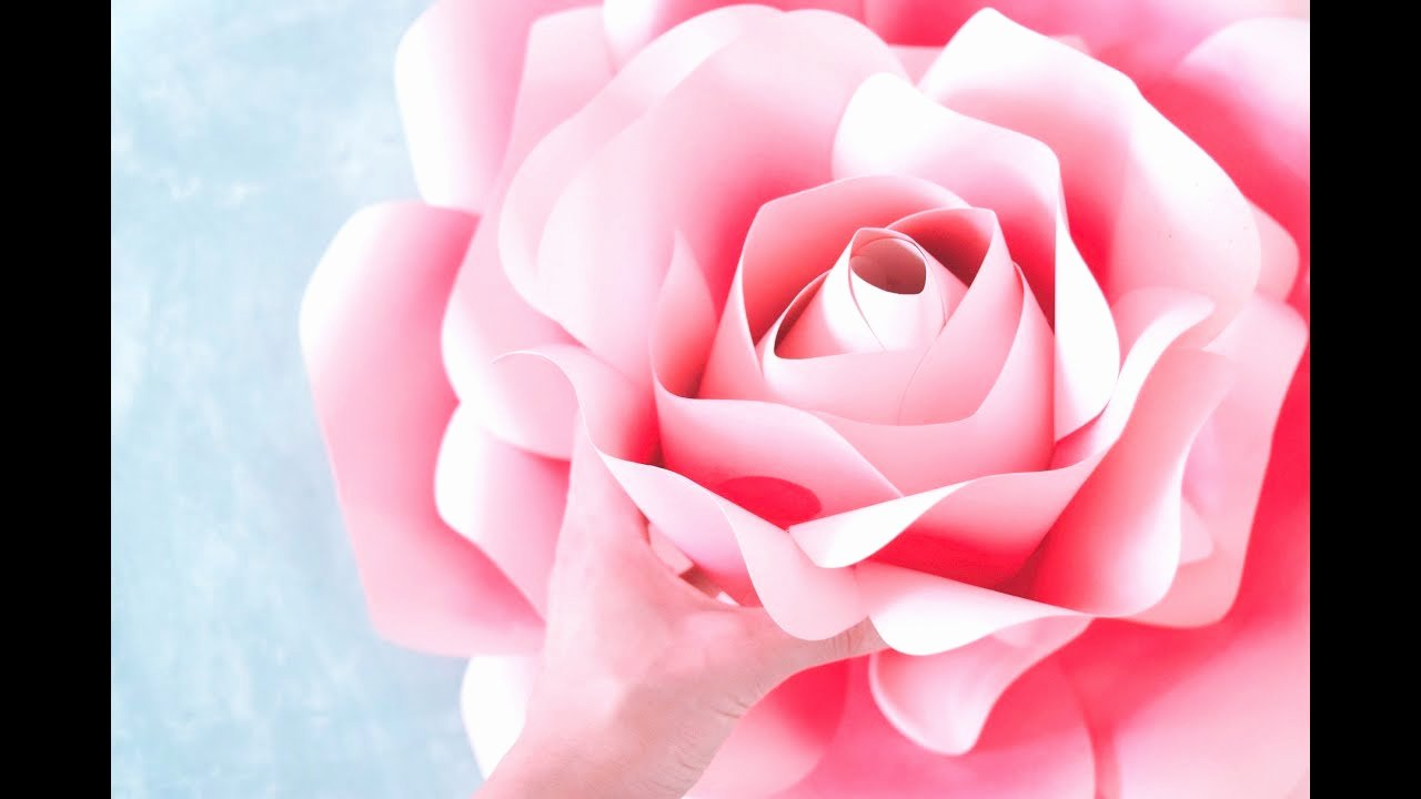 Large Rose Paper Flower Template Best Of How to Make Giant Paper Roses Rose Tutorial & Templates
