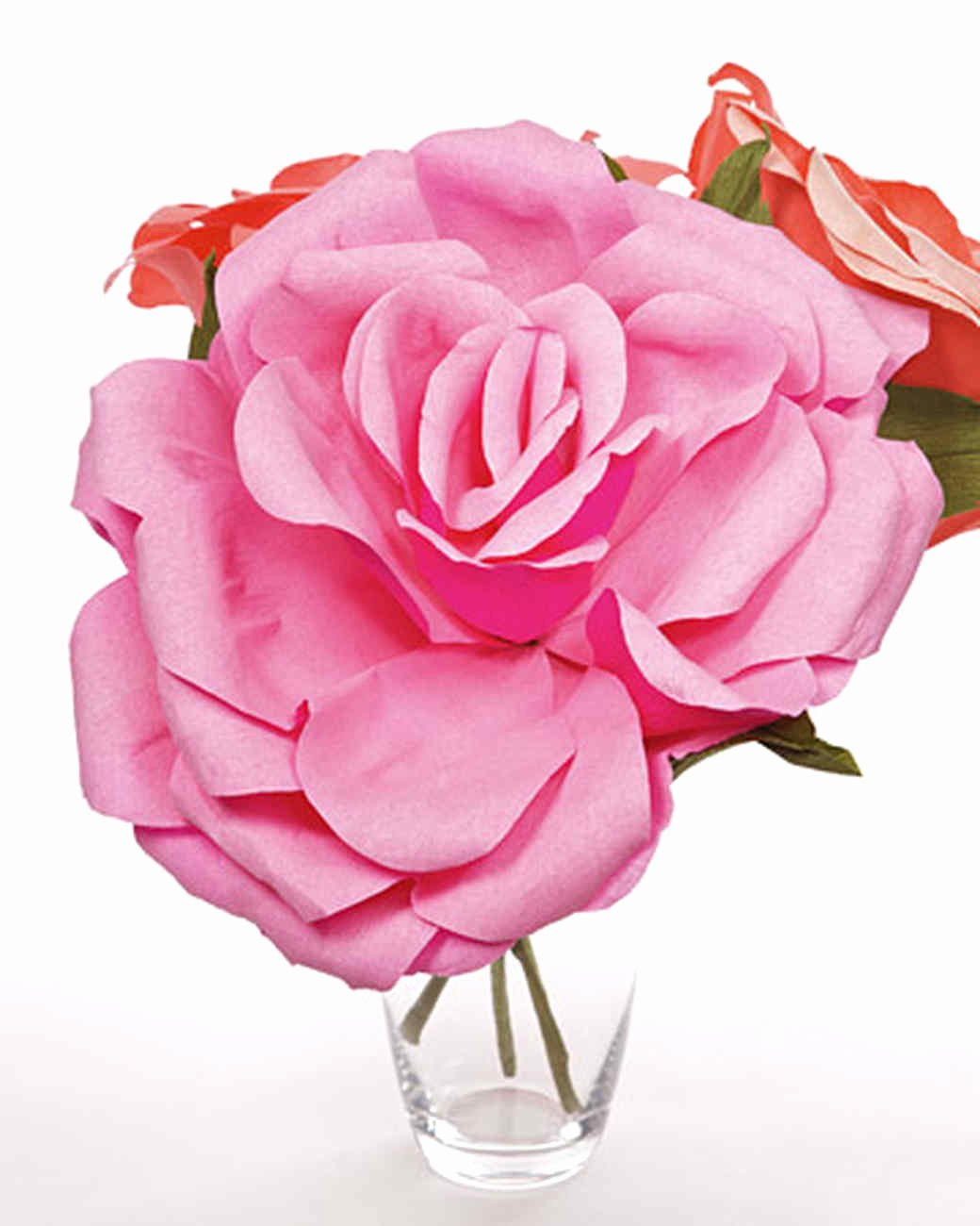 Large Rose Paper Flower Template Elegant Crepe Paper Roses & Video