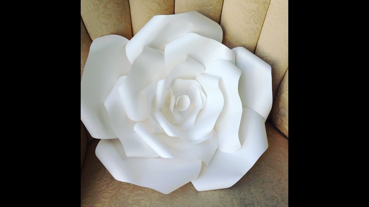 Large Rose Paper Flower Template Inspirational Diy Large Paper Rose