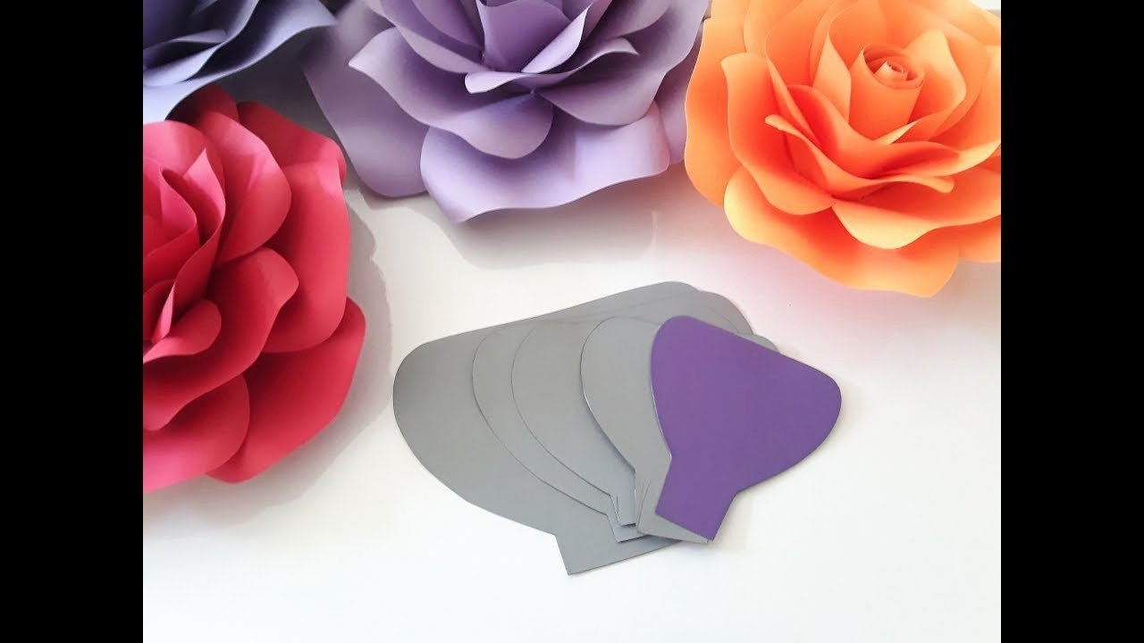 Large Rose Paper Flower Template Lovely Diy Paper Rose Template Making Tutorial
