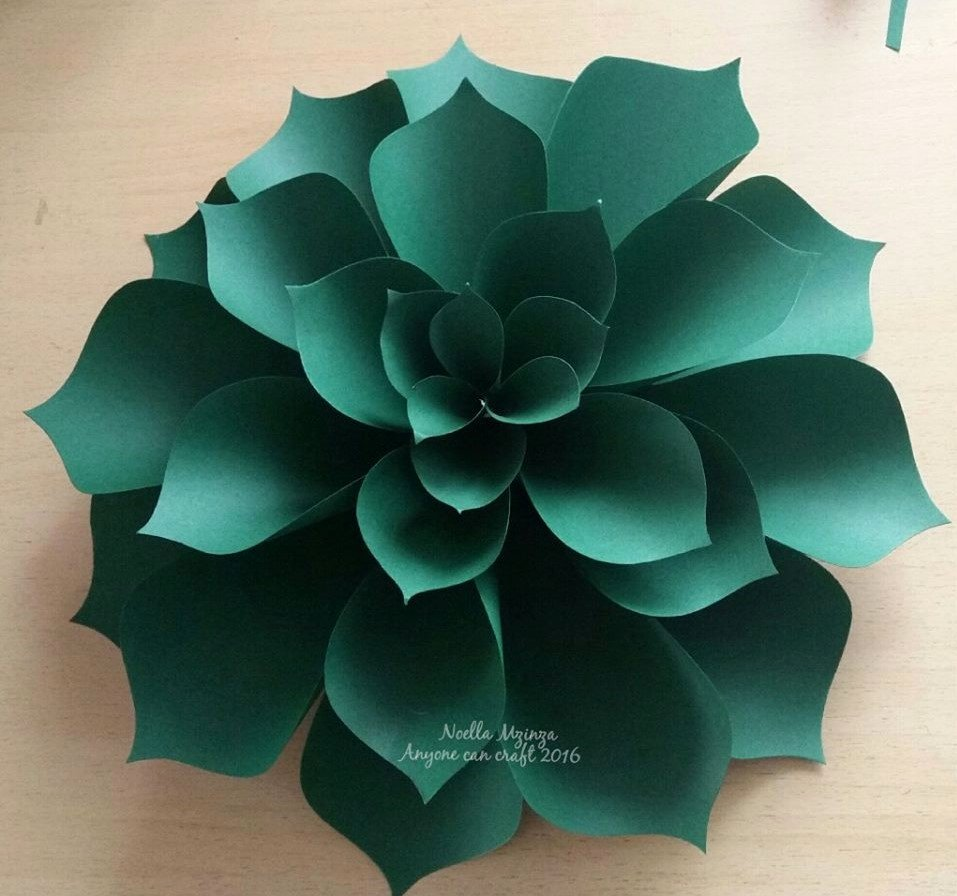 Large Rose Paper Flower Template Luxury Flower Petals – Anyone Can Craft