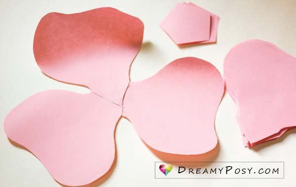 Large Rose Paper Flower Template New Free Template and Full Tutorial to Make Giant Rose for