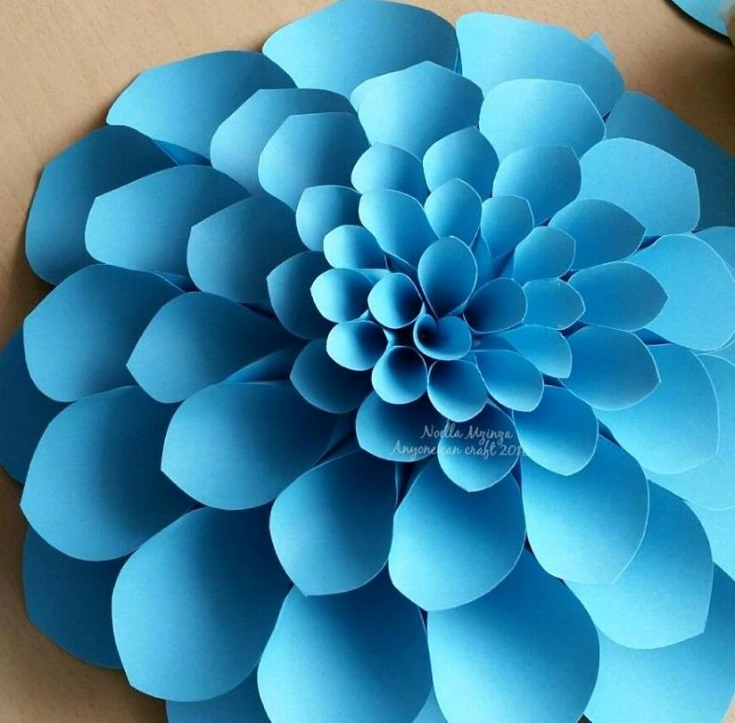 Large Rose Paper Flower Template Unique Flower Petals Crafting Flowers