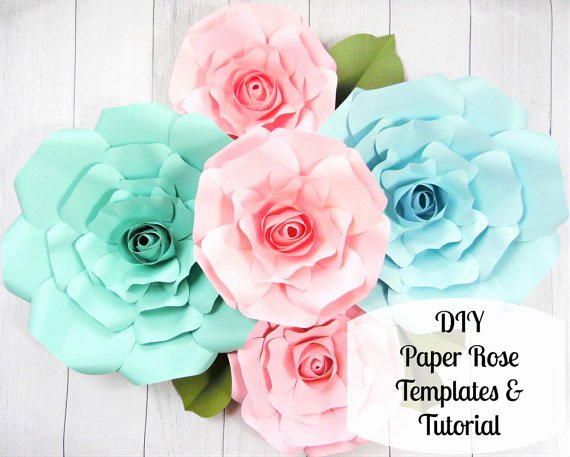 Large Rose Paper Flower Template Unique Giant Paper Roses Paper Flower Roses Rose Templates