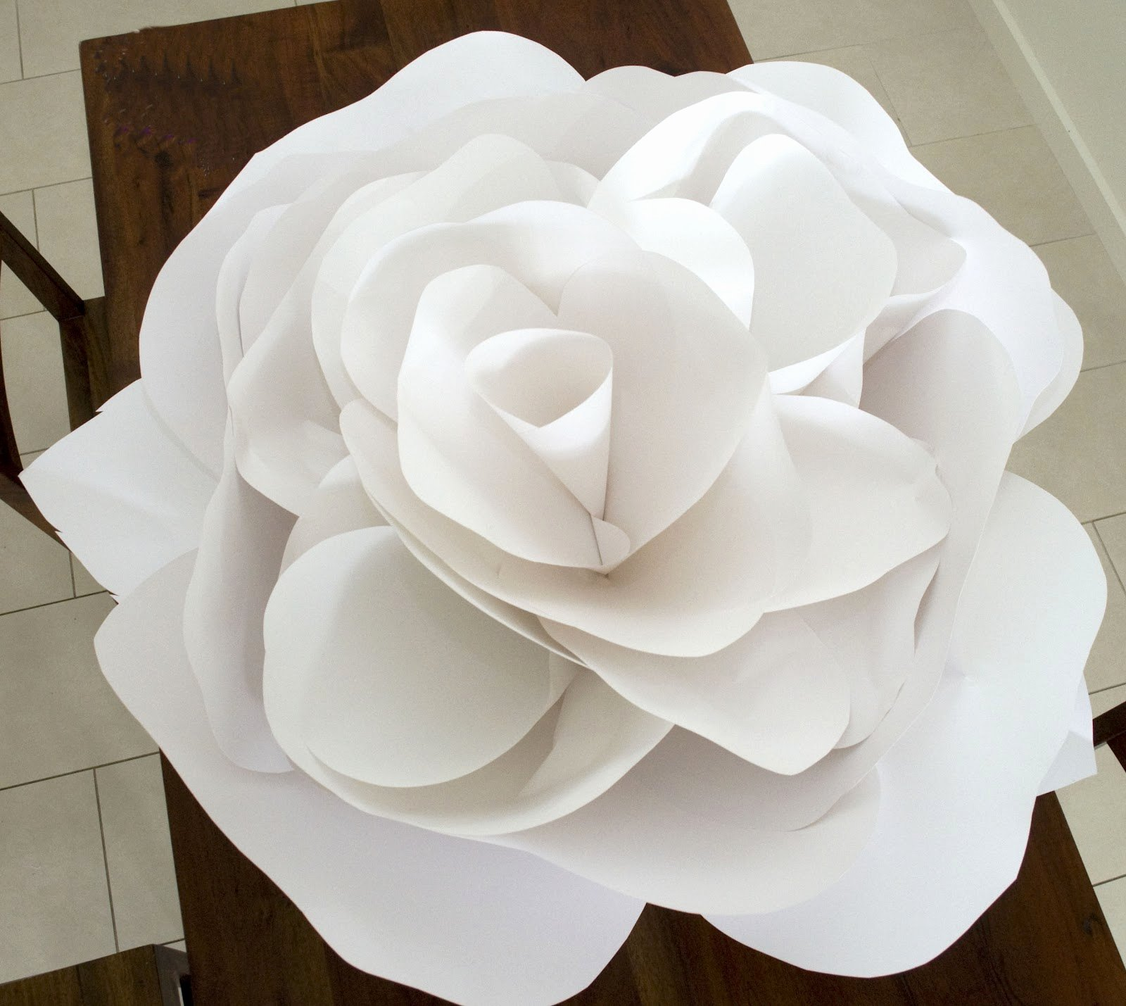 Large Rose Paper Flower Template Unique Grace Designs Giant Paper Flowers