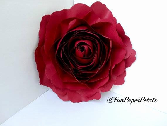 Large Rose Paper Flower Template Unique X Large Rose Template Paper Flower Template Digital