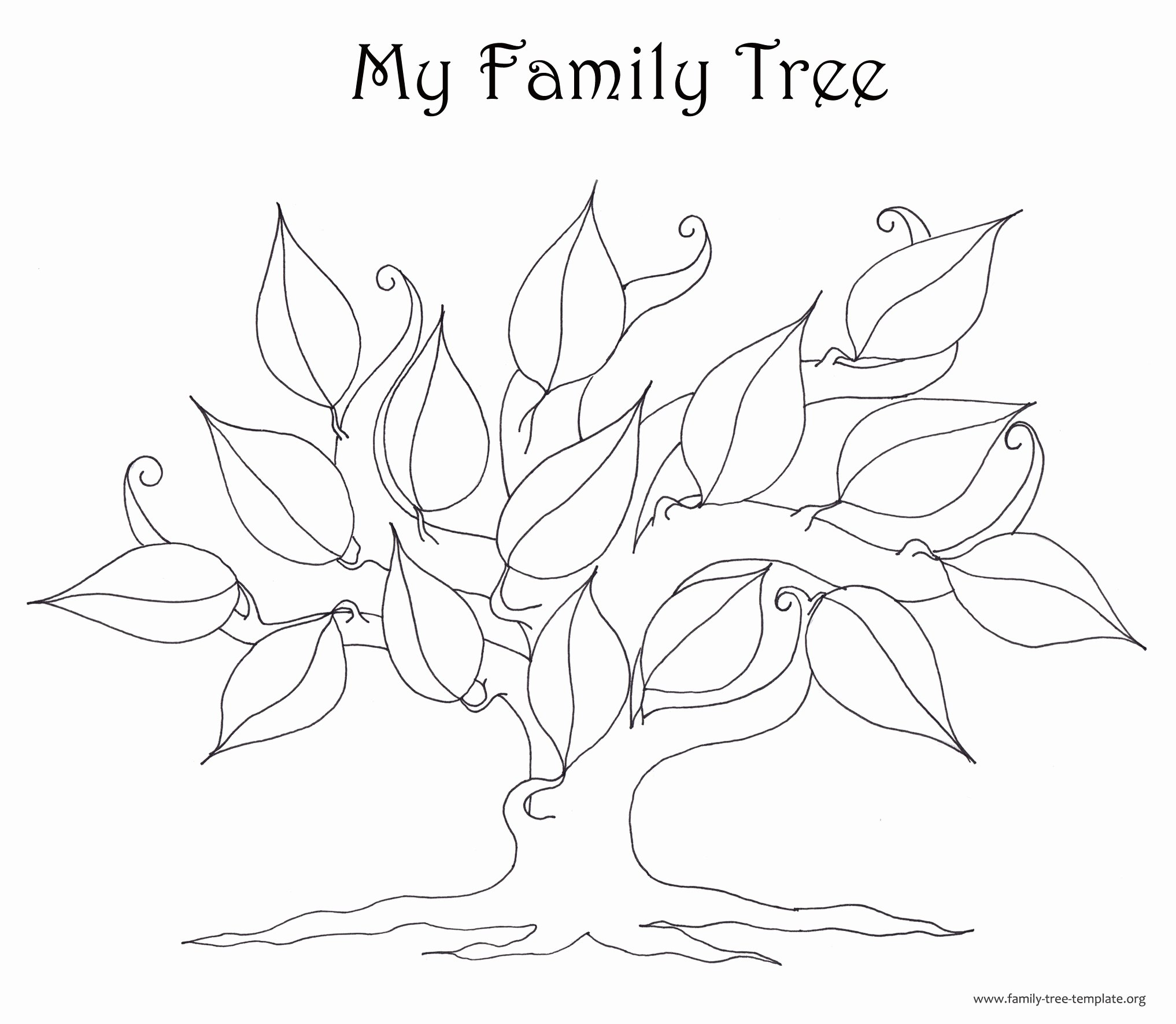 Large Tree Template Awesome Family Tree Template Resources