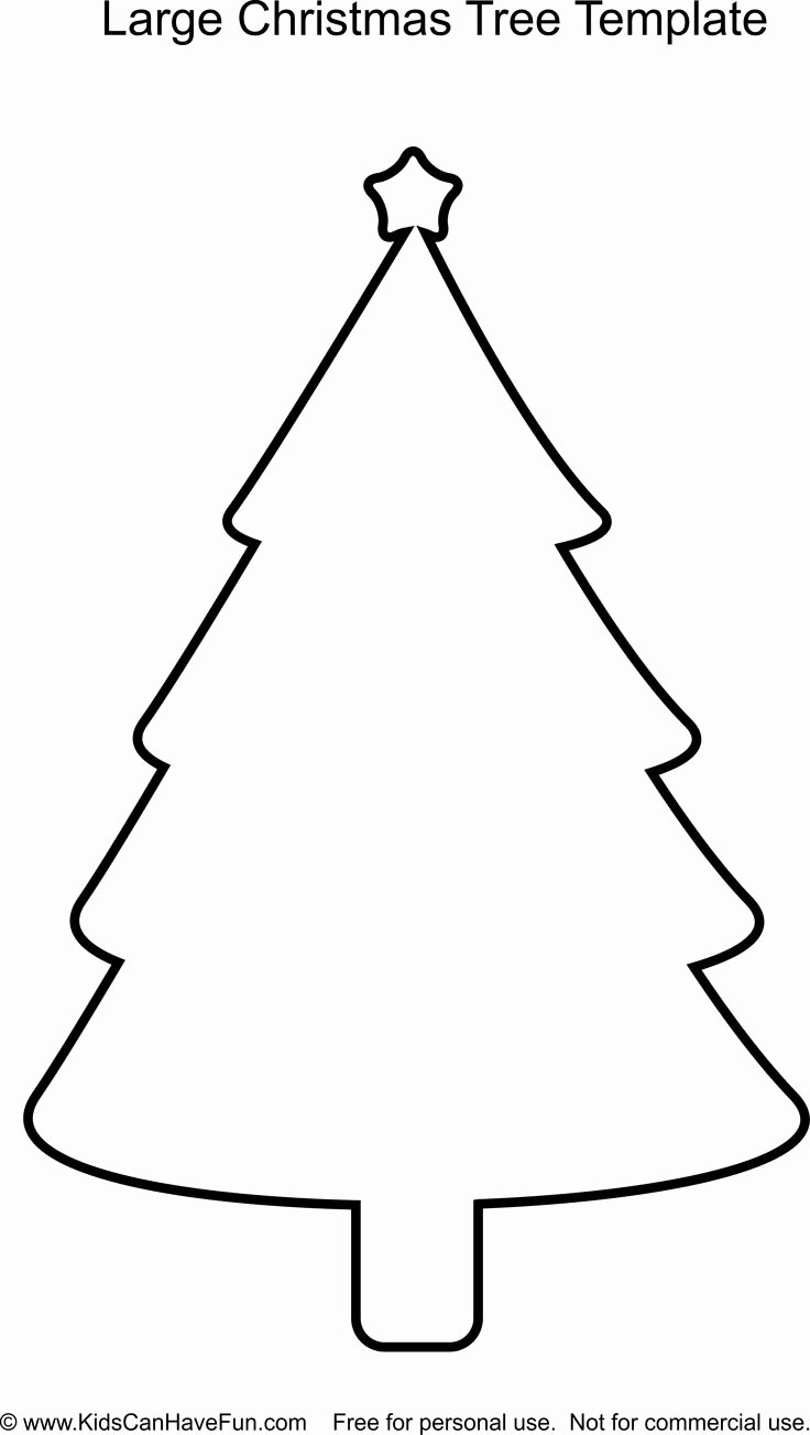 Large Tree Template New Christmas Tree Template Scanhavefun