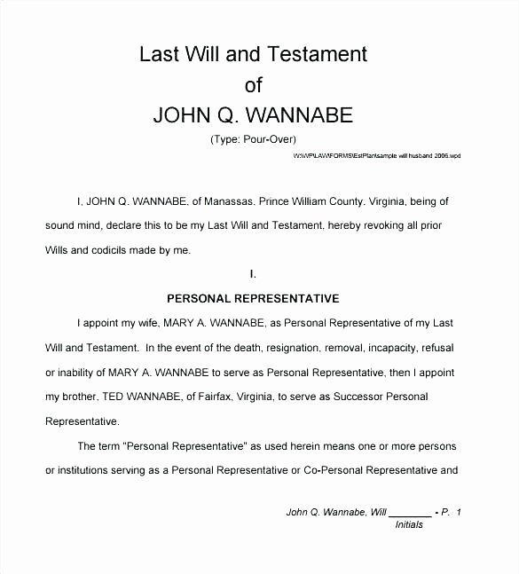 Last Will and Testament Template Microsoft Word Inspirational Cambiavidafo