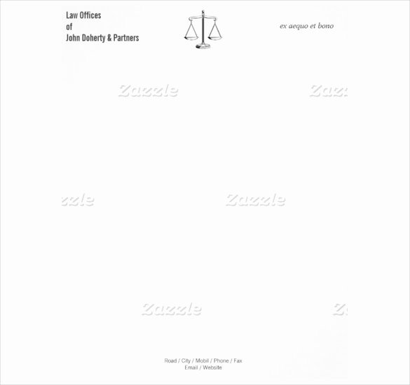 Law Firm Letterhead Template Elegant 8 attorney Letterhead Templates