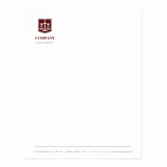 Law Firm Letterhead Template Fresh Law Firm Professional Letterhead