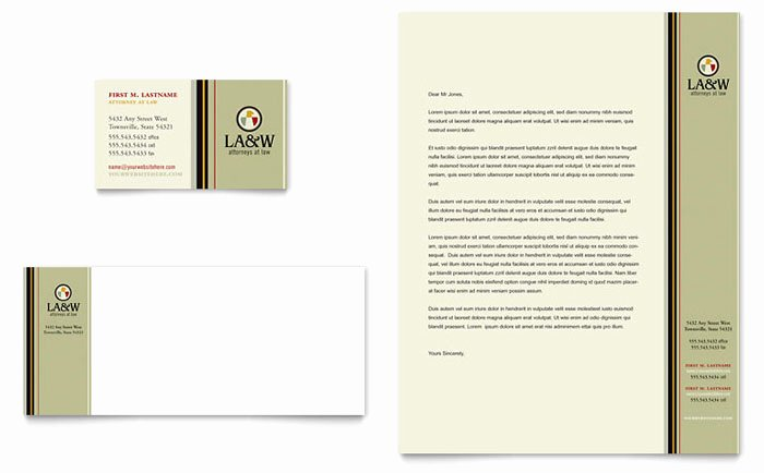 Law Firm Letterhead Template Fresh Lawyer & Law Firm Business Card & Letterhead Template Design