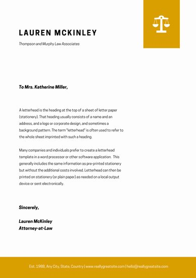 Law Firm Letterhead Template Lovely Customize 37 Law Firm Letterhead Templates Online Canva