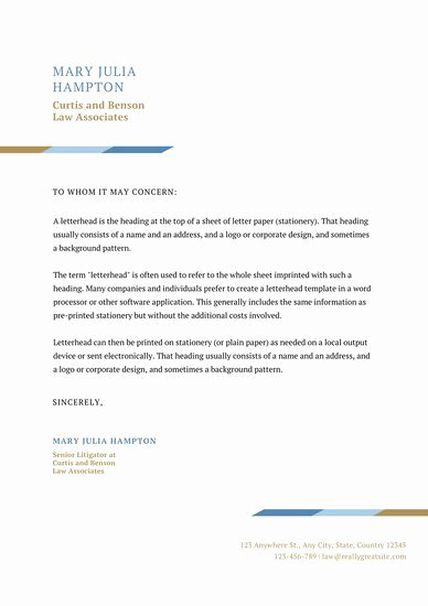 Law Firm Letterhead Template New Letterhead Templates Canva