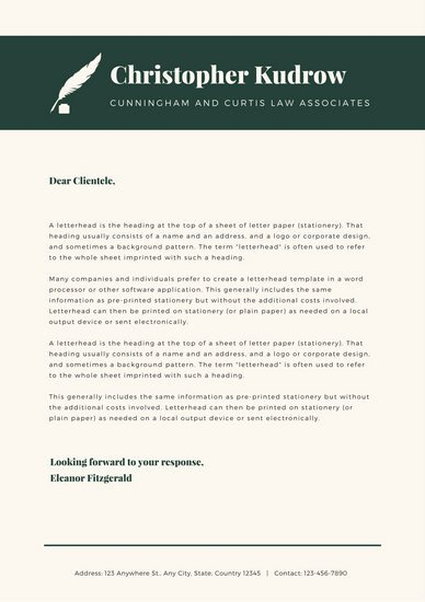 Law Firm Letterhead Template Unique Customize 37 Law Firm Letterhead Templates Online Canva