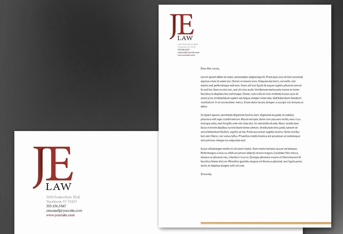 Law Firm Letterhead Templates Beautiful attorney Letterhead Templates