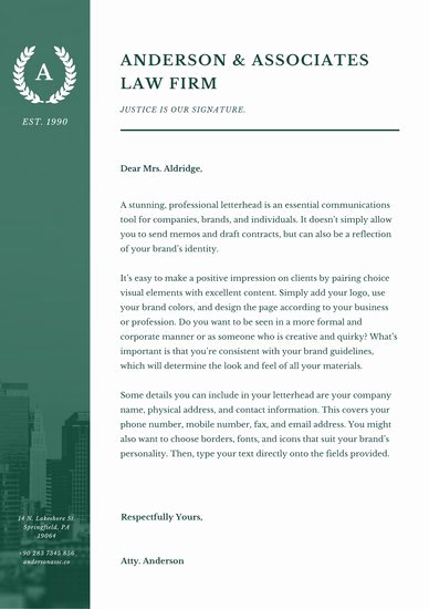 Law Firm Letterhead Templates Beautiful Customize 38 Law Firm Letterhead Templates Online Canva