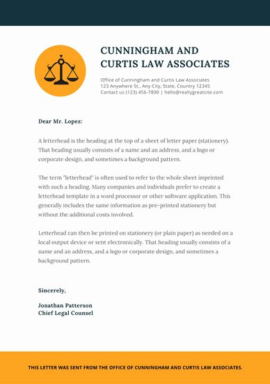 Law Firm Letterhead Templates New orange Justice Icon Law Firm Letterhead Templates by Canva