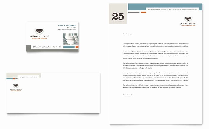 Law Firm Letterhead Templates Unique Family Law attorneys Business Card & Letterhead Template