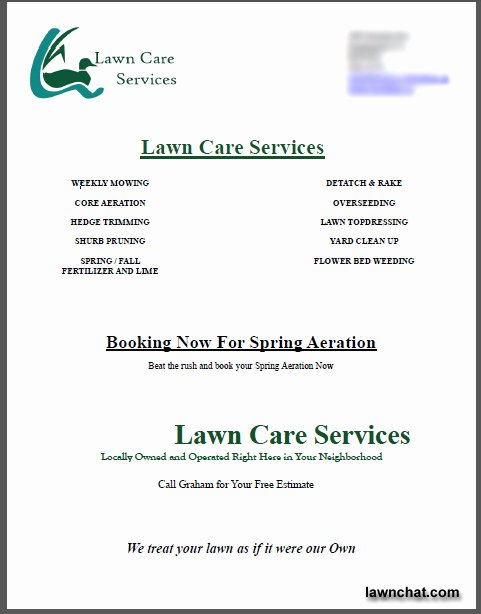 Lawn Care Bid Proposal Template Beautiful Spring Lawn Care Flyer Response Rate