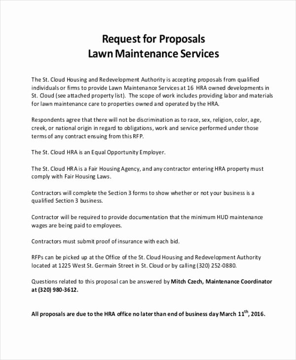 Lawn Care Bid Proposal Template Best Of 24 Service Proposal Samples Word Pdf Pages