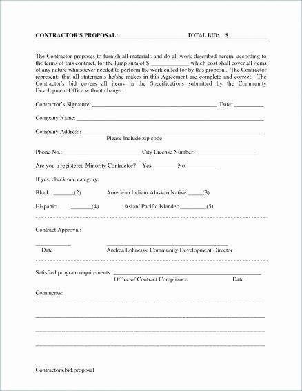 Lawn Care Bid Proposal Template Fresh Bid Proposal Template Professional Pdf Microsoft Excel
