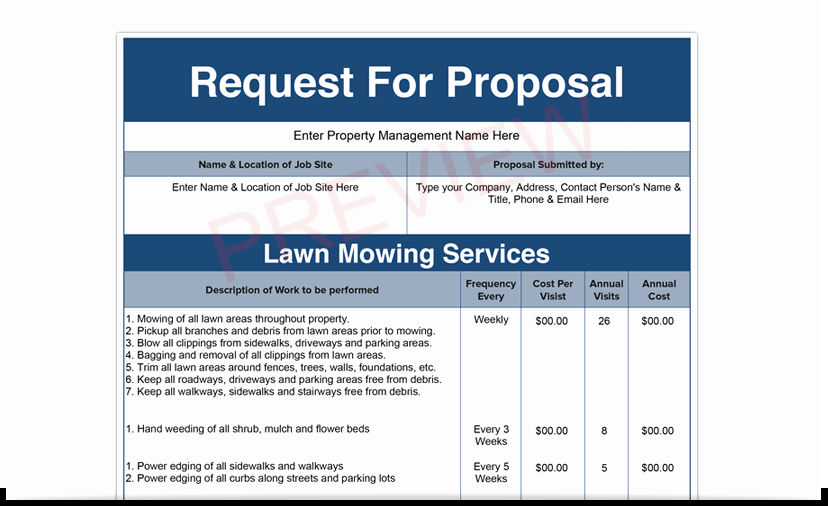 Lawn Care Bid Proposal Template Unique Lawn Care Bid Templates