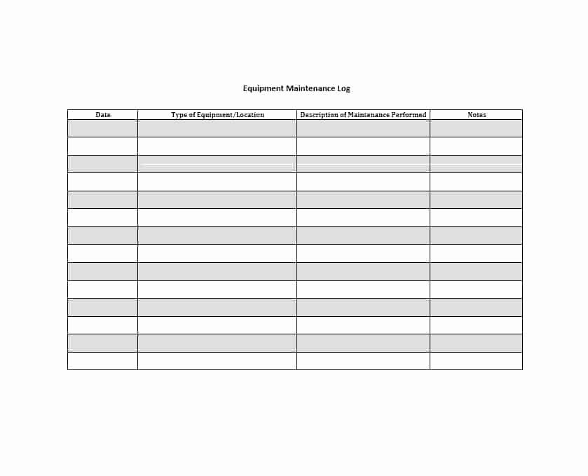 Lawn Mower Maintenance Log Template Inspirational 40 Equipment Maintenance Log Templates Template Archive