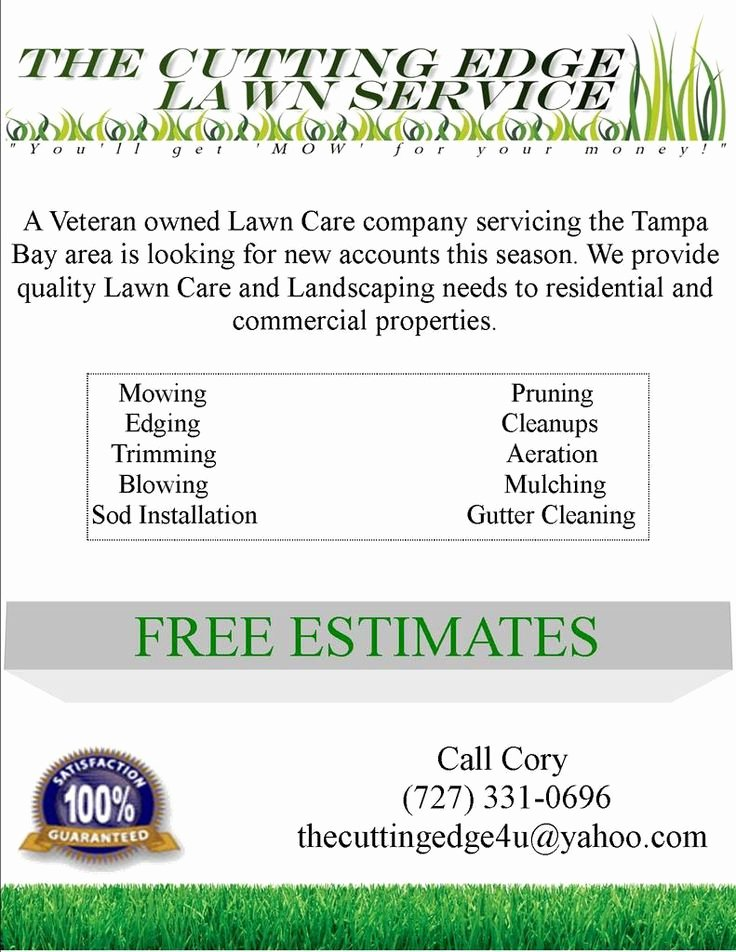 Lawn Service Proposal Template Free Best Of Lawn Care Flyer Free Template