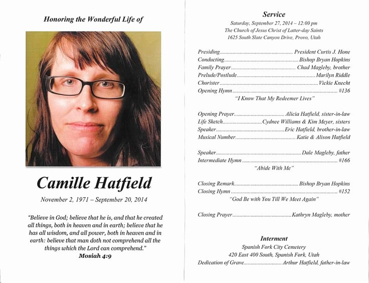 Lds Funeral Program Template Free Best Of Lds Funeral Program Examples Google Search