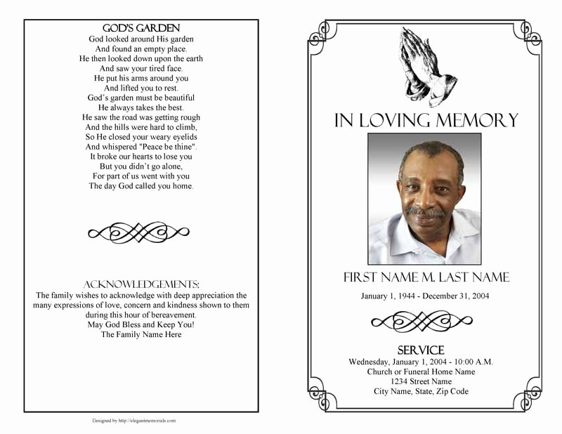 Lds Funeral Program Template Free Inspirational Funeral Program Templates Funeral Programs