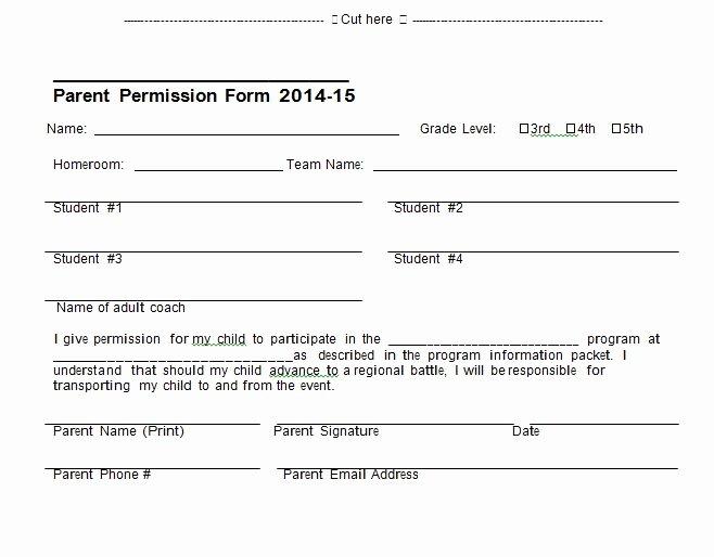Lds Permission form Beautiful 35 Permission Slip Templates & Field Trip forms