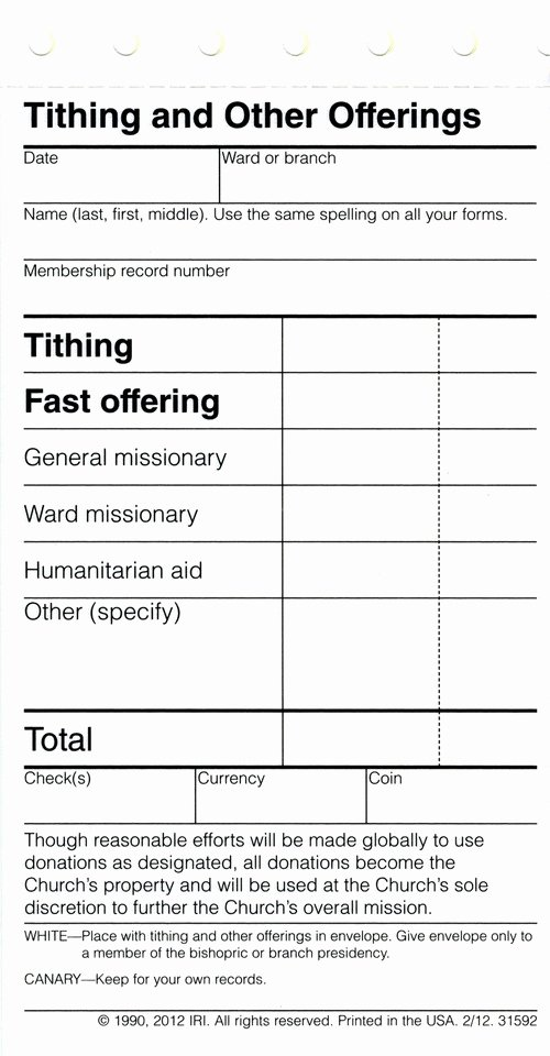 Lds Permission form Elegant Next Time Mormons Pay Tithing they May Notice something