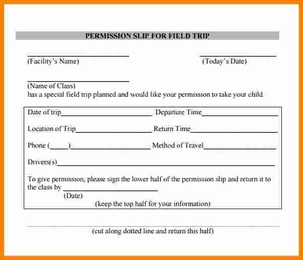 Lds Permission form Inspirational 8 Permission Slip for Field Trip