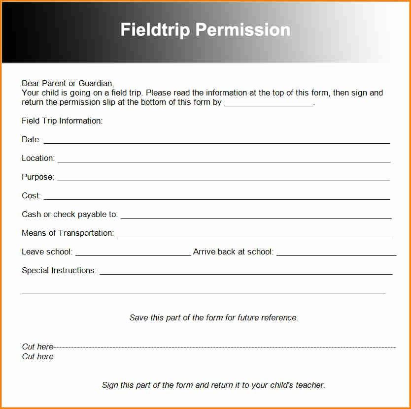 Lds Permission form New 10 Permission Slips Templates