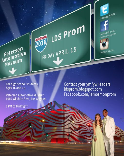 Lds Youth Permission Slip Beautiful Lds Prom the Petersen Automotive Museum