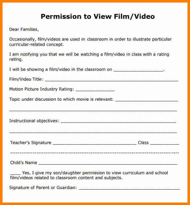 Lds Youth Permission Slips Luxury 5 Movie Permission Slip