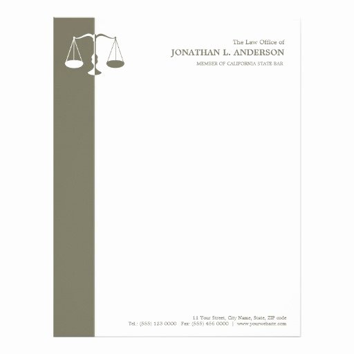 Legal Letterhead Templates Elegant attorney Letterhead Custom attorney Letterhead Templates
