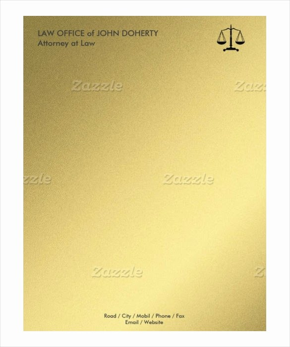 Legal Letterhead Templates Lovely 8 attorney Letterhead Templates
