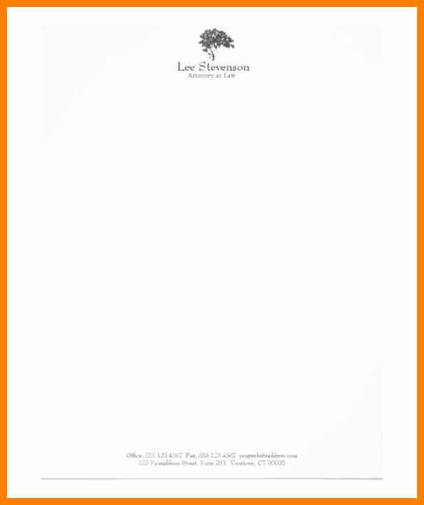 Legal Letterhead Templates Unique 12 attorney Letterhead Templates